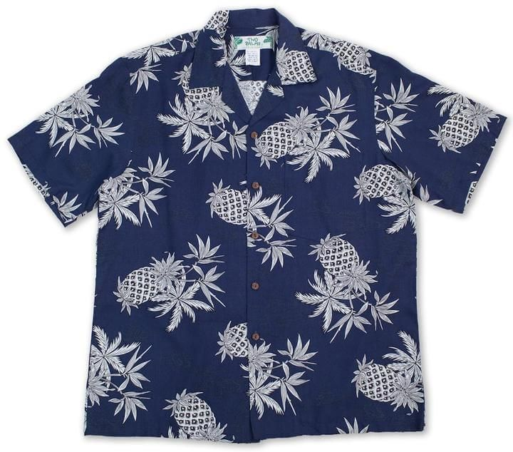e0ffce23 Pineapple Map Navy - Hawaiian Aloha Rayon Shirt in 2019 | Products ...