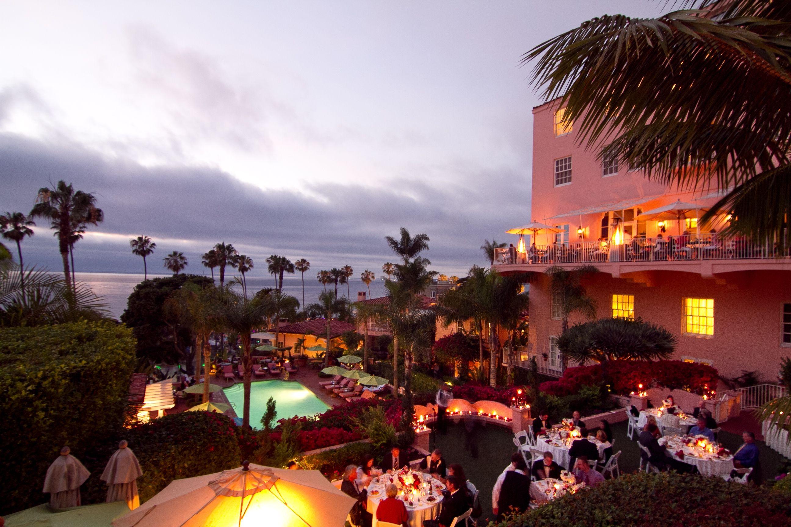 A Garden Dinner La Valencia Hotel La Jolla Hotels La Jolla