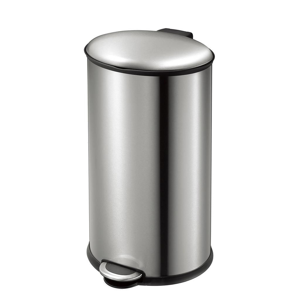 Eko Ellipse Stainless Steel 35 Liter 9 2 Gallon Oval Step Trash