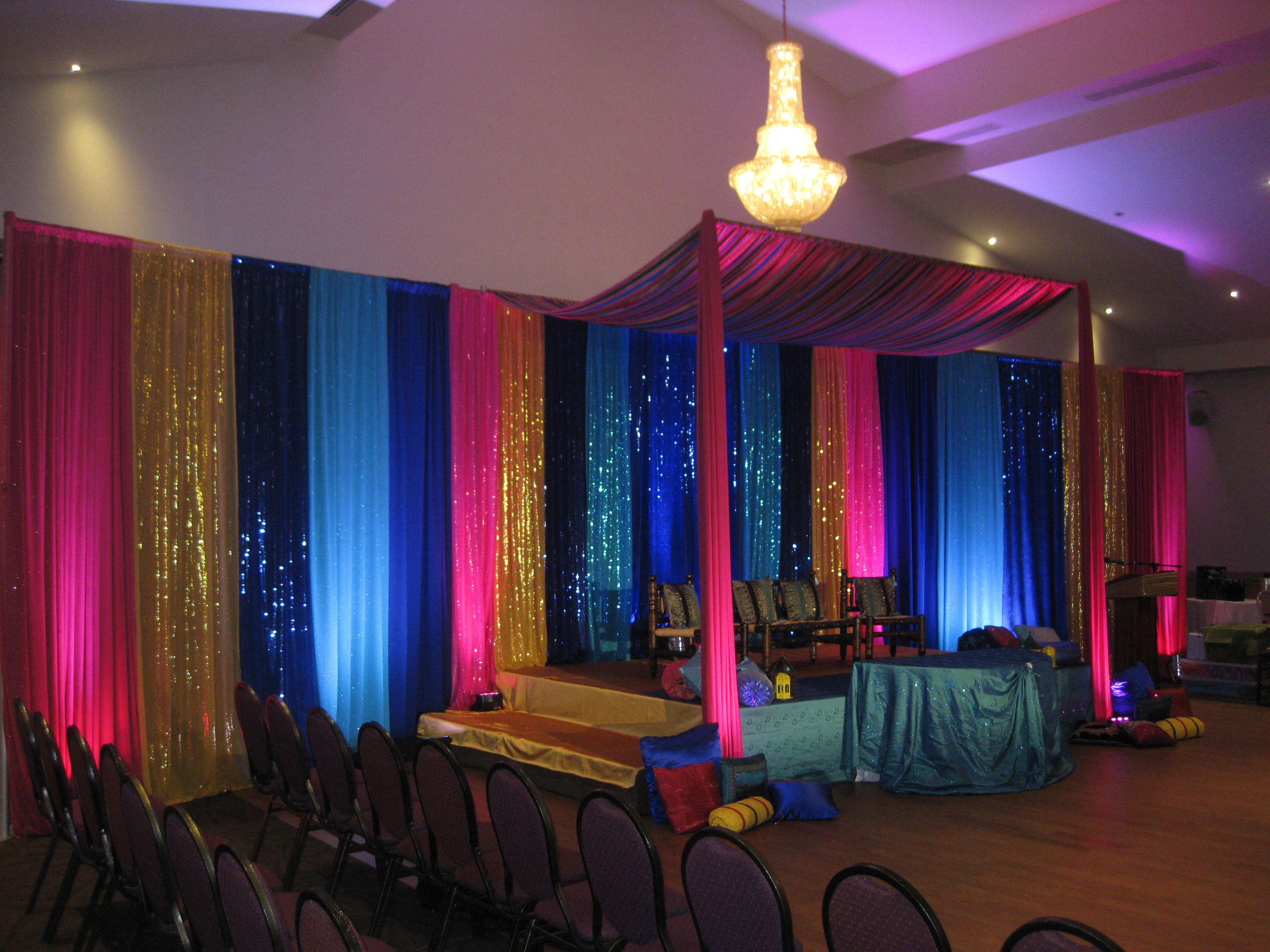 Mehndi Stage Canopy Frame with Extensions to cover the divider walls ...