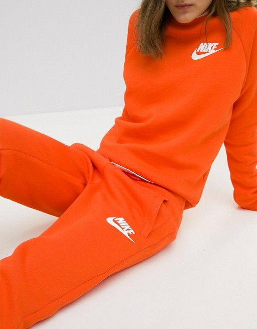 Image result for Nike Exclusive To ASOS Rally Sweatshirt & Joggers In Orange