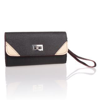 Nice Womens Patchwork Purse Wrist Shoulder Handbag with Turn Locks