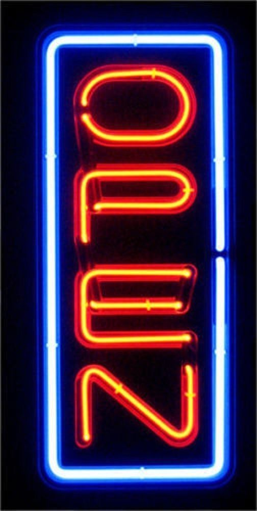 Big Red Store >> Vertical Neon Open Sign Store Business Bright Display Led