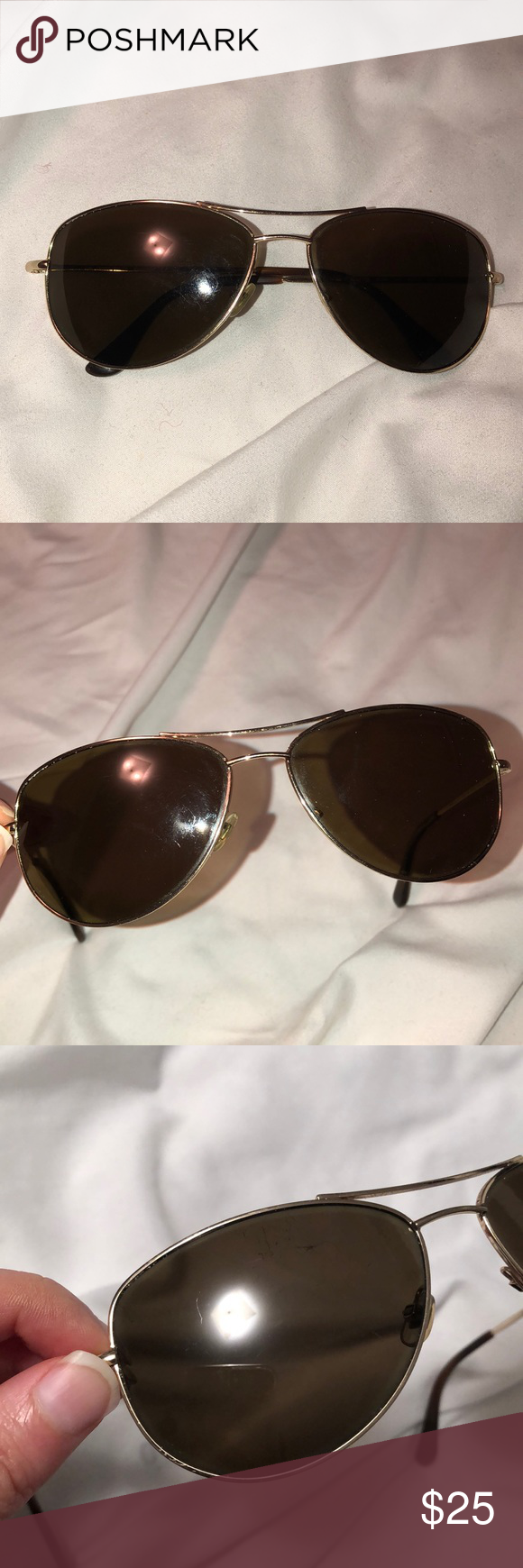 45169d72aff5 Kate Spade Ally Polarized aviator sunglasses, used These are heavily  scratched, and missing a