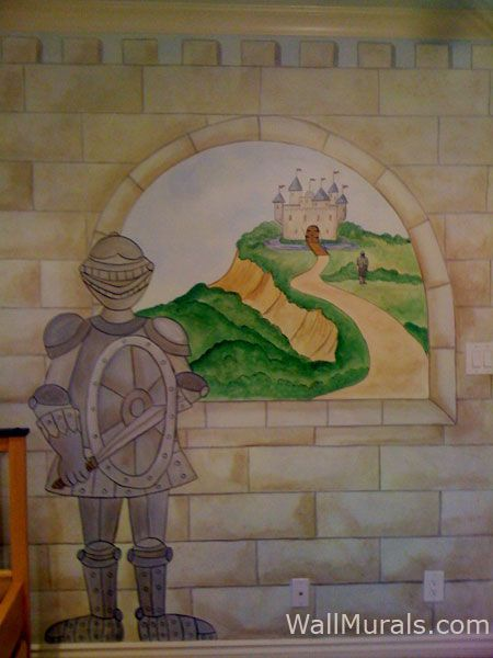 Castle Wall Murals by Colette Castle Murals Castle Theme Wall