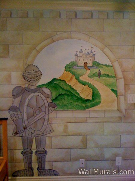 Castle Wall Mural castle wall muralscolette: castle murals - castle theme wall