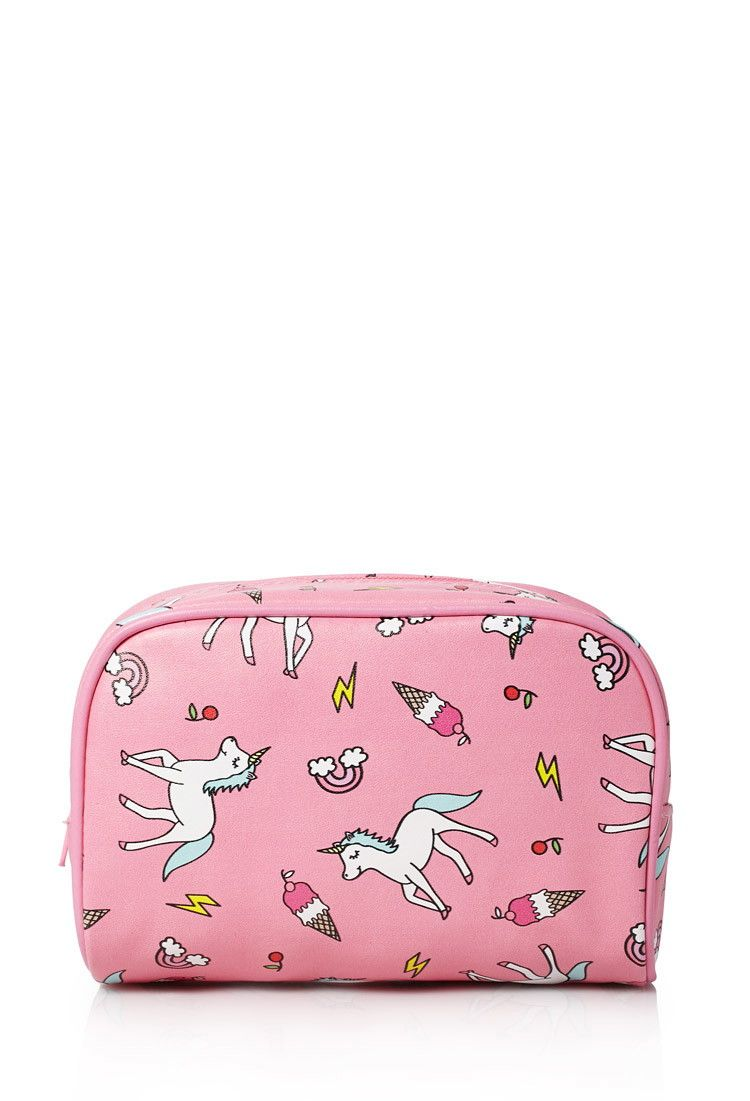 Unicorn Print Makeup Bag Printed Makeup Bag Unicorn Print Bags