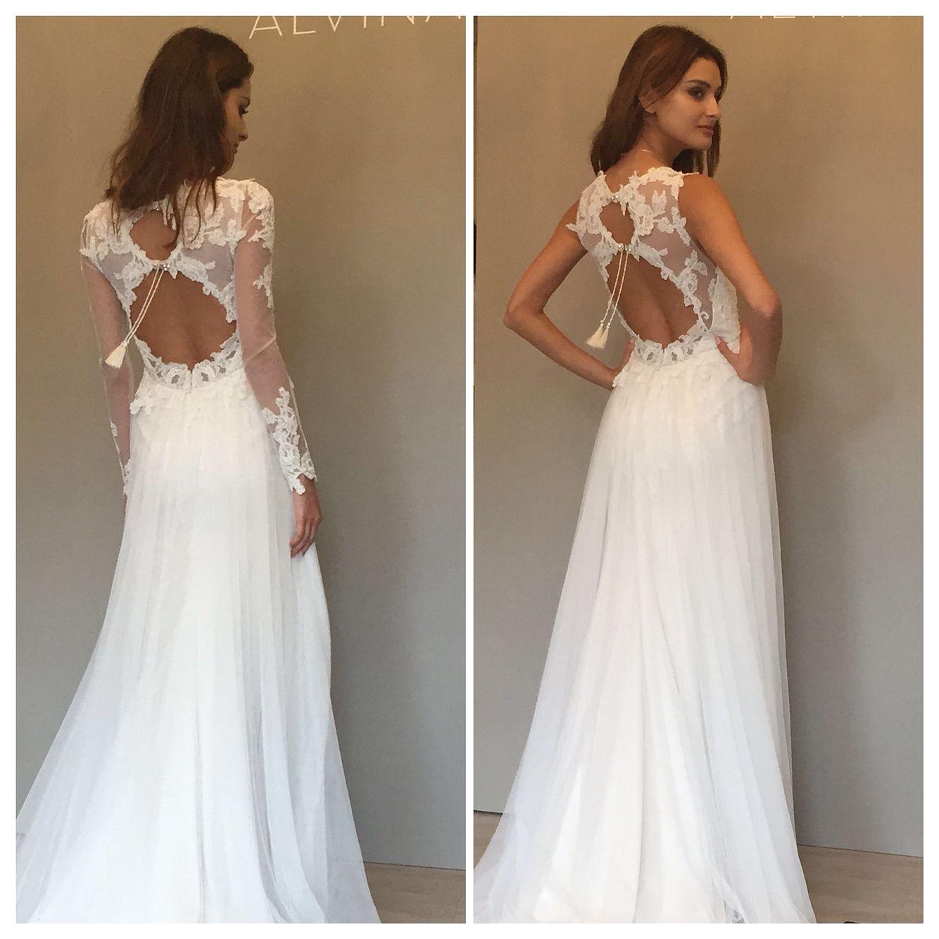 Alvina Valenta Style 9558 with detachable long sleeves