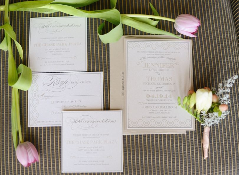Need photo of invitations with flowers on wedding day.