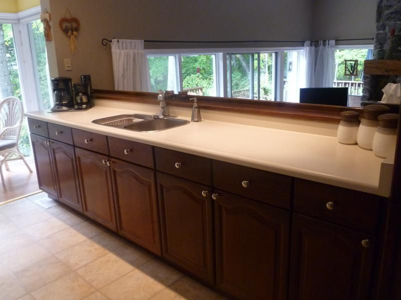 Before and after butcher block countertops lumber