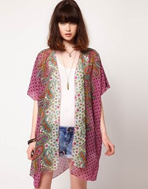 Cute boho cardigan jacket. Band of Gypsies Chiffon Long