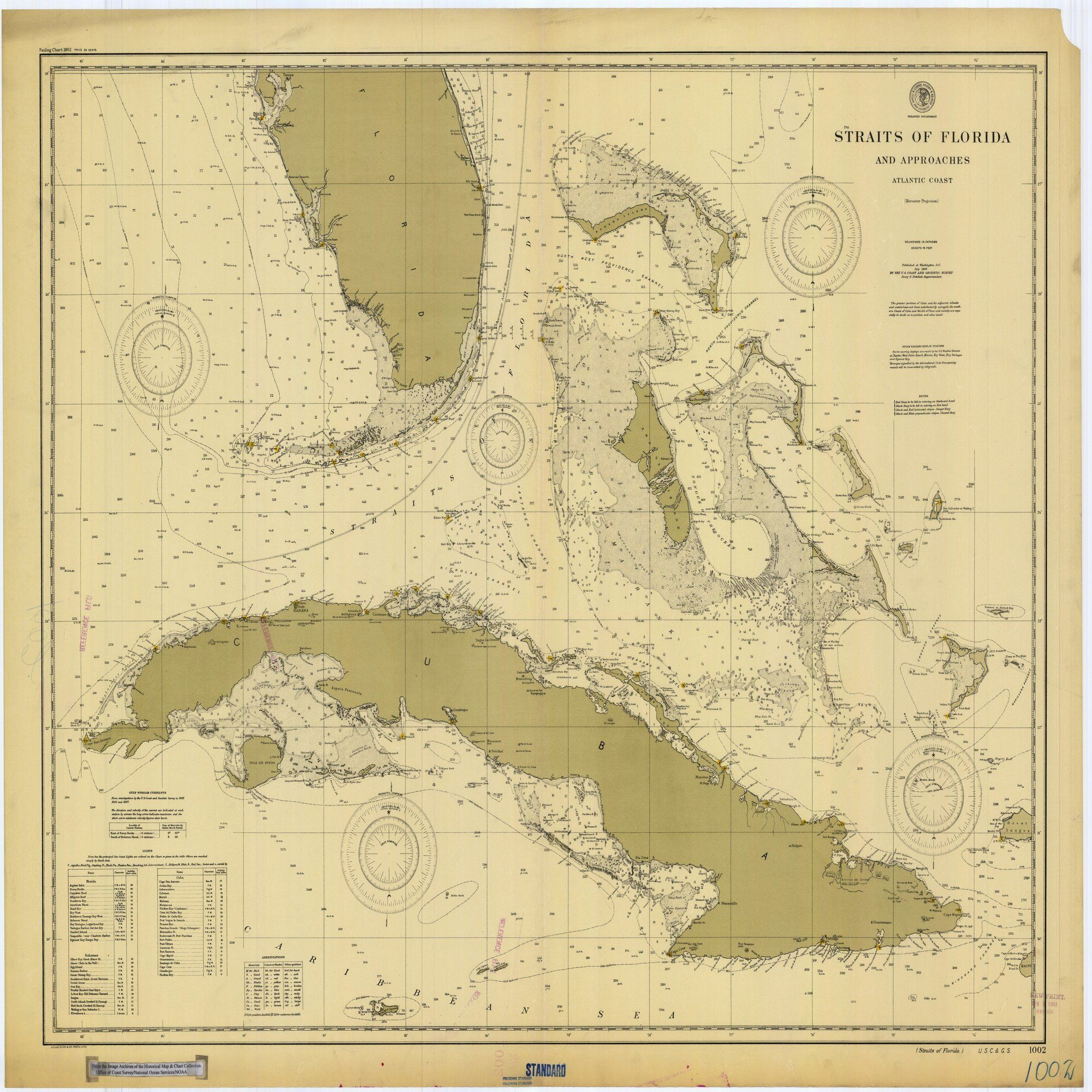 18 X 24 Inch 1900 Us Old Nautical Map Drawing Chart Of Straits Of - Us-coast-and-geodetic-survey-maps