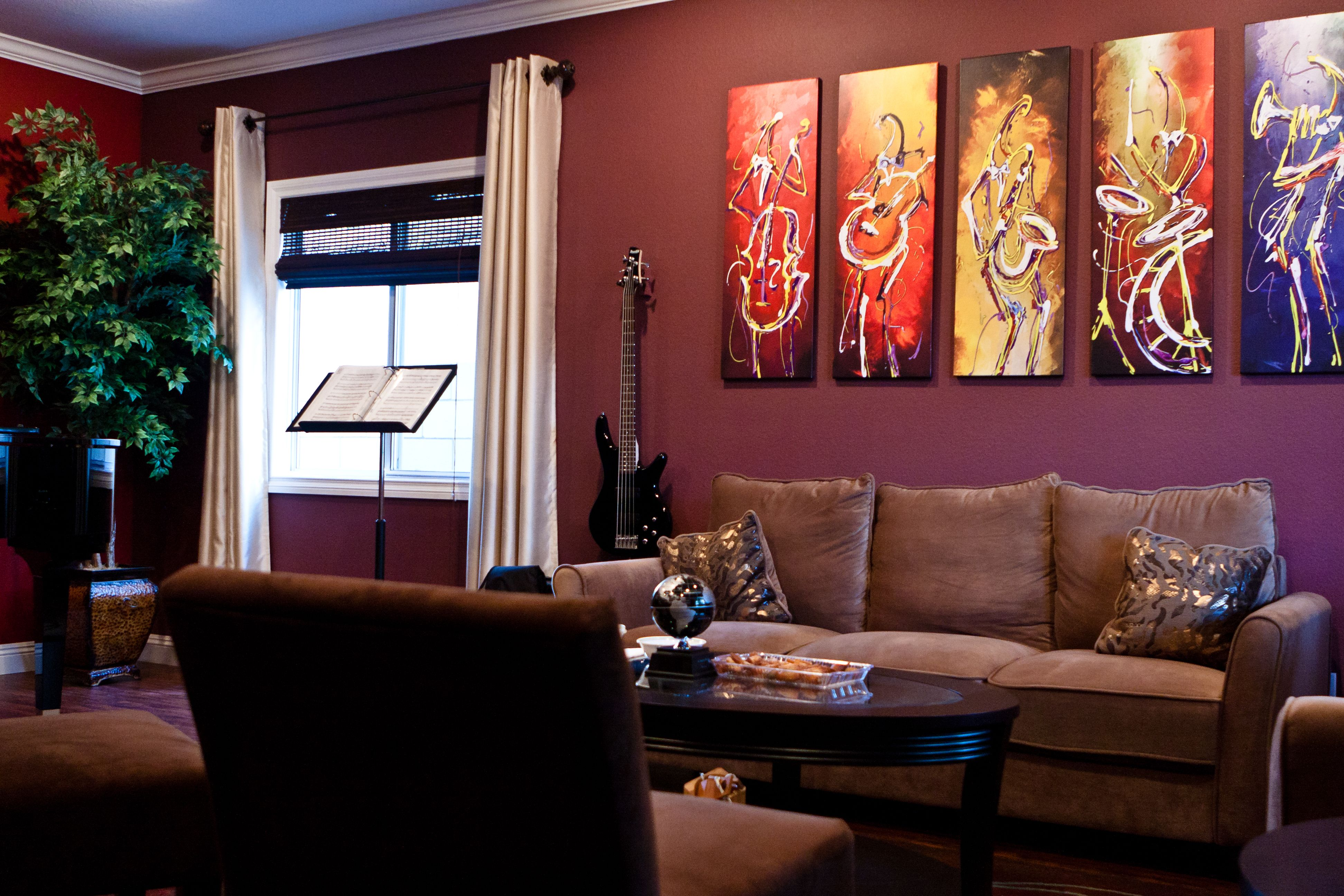 Jazz Music Themed Living Room Decor Modern Home Design Ideas