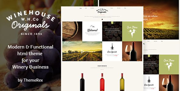 wine house winery restaurant site template restaurants cafes