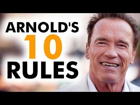 Arnold Schwarzenegger S Top 10 Rules For Success Schwarzenegger Arnold Schwarzenegger Arnold Schwarzenegger Quotes Motivational Videos Youtube