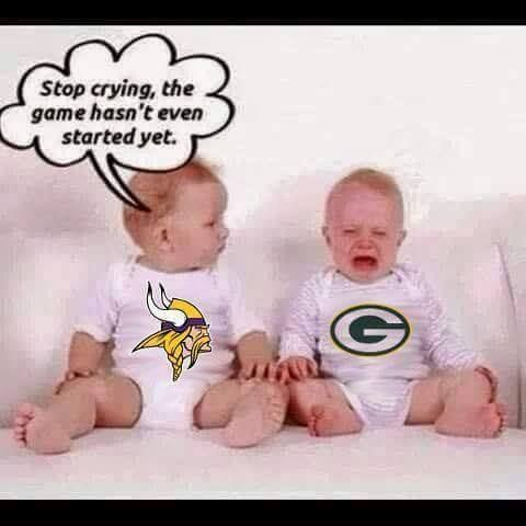 Image result for packers bears oh quit crying the game hasnt started yet meme
