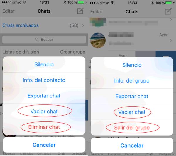 Cómo Borrar Chats De Whatsapp En Iphone De Un Contacto Y De Un Grupo De Whatsapp Iphone Android Borrando Mensajes