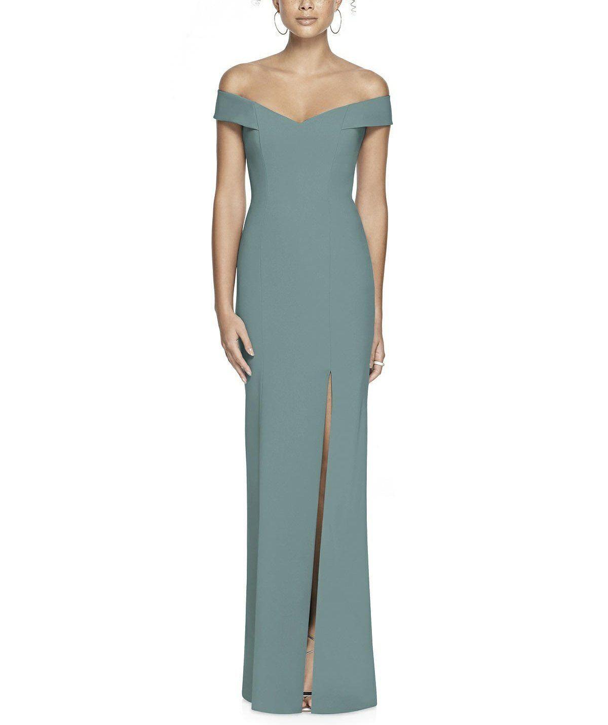 b28e95e386e Description - Dessy Collection Style 3012 - Full length bridesmaid dress -  Off the shoulder -