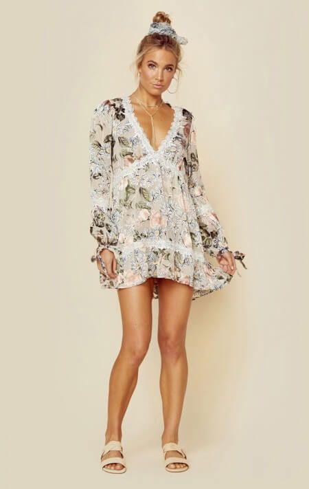 1740e829affd8 For Love And Lemons Clothing Dresses Long Sleeve Dresses Luciana Swing Dress