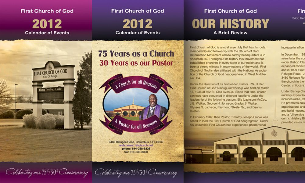 Church Program Designs Webphotographix Brochure Catalog Booklet