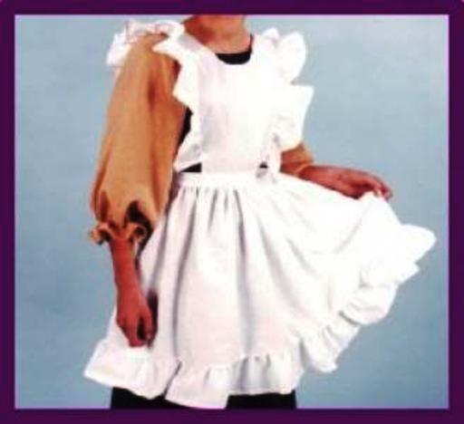 Adult Child Pinafore Arpon White Pilgrim Colonial Puritan Costumes Apron | eBay