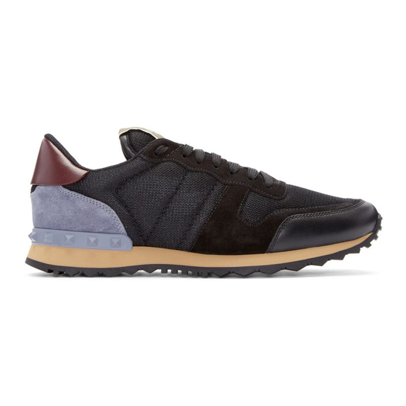 Rick Owens Navy Valentino Garavani Mesh Rockrunner Sneakers Jm2MUhlA