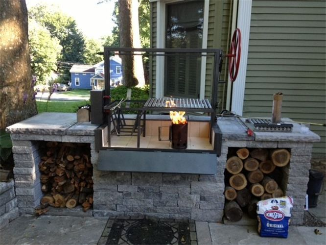 Built and designed by OUTDOOR MASONRY KITCHENS | Garden