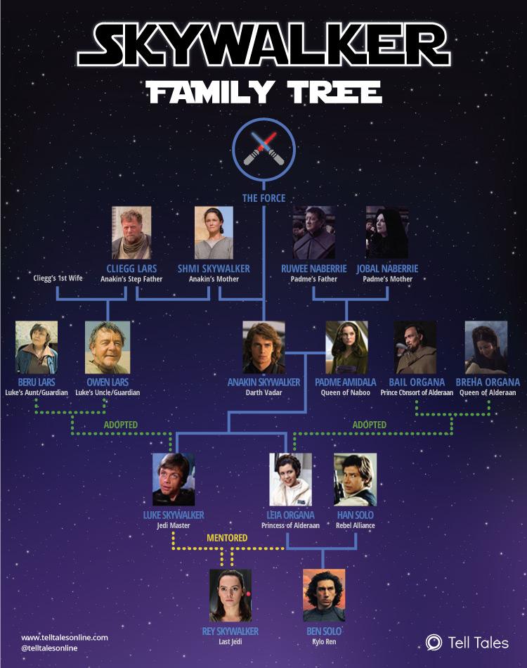 Star Wars - Skywalker Family Tree Explained [Infographic]
