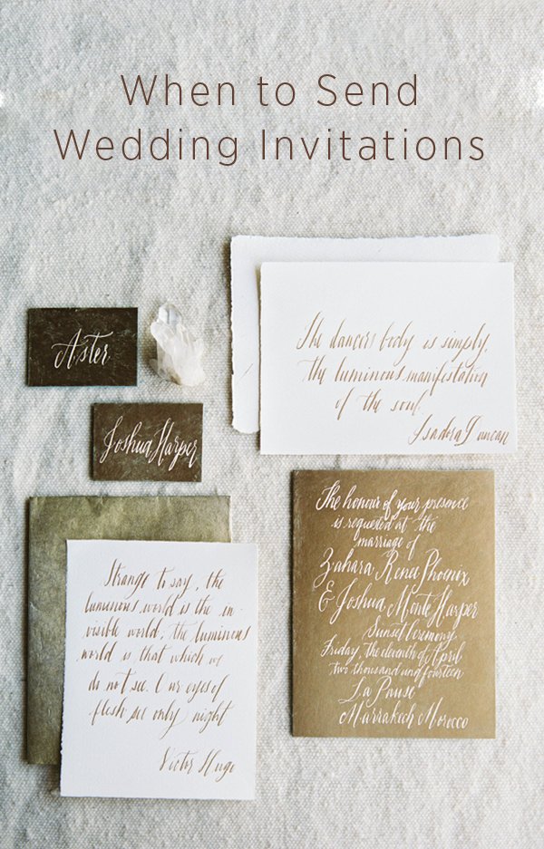 When Do I Send Out Wedding Invitations The Most Commonly Asked Question By Bri Wedding Invitations Wedding Invitation Etiquette Wedding Stationery Inspiration