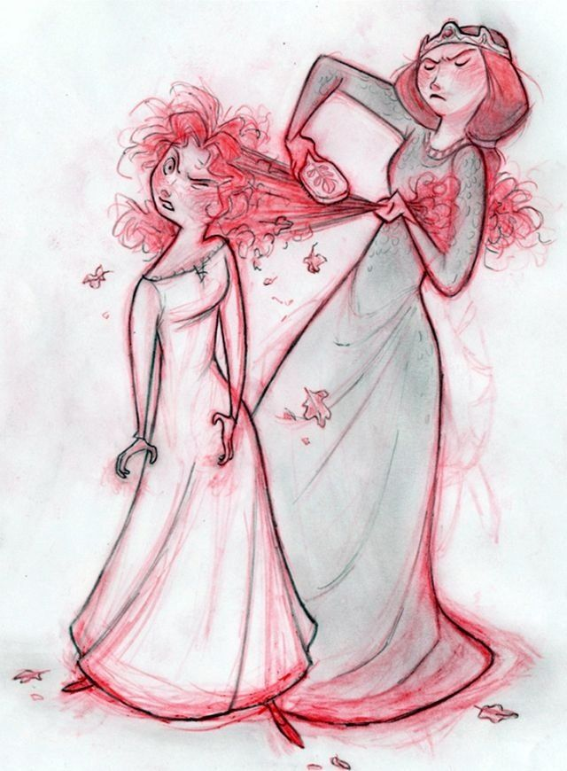 Merida & Elinor (Oh god this was my mom and me when I was young!)