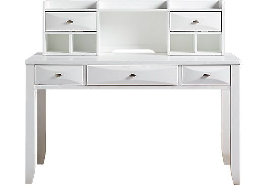 shop for a ivy league white desk and hutch at rooms to go kids