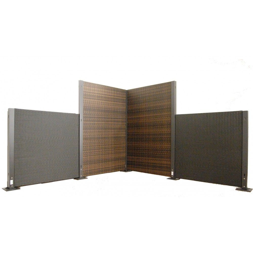 The Versare Configurable Wicker Partition System Allows You