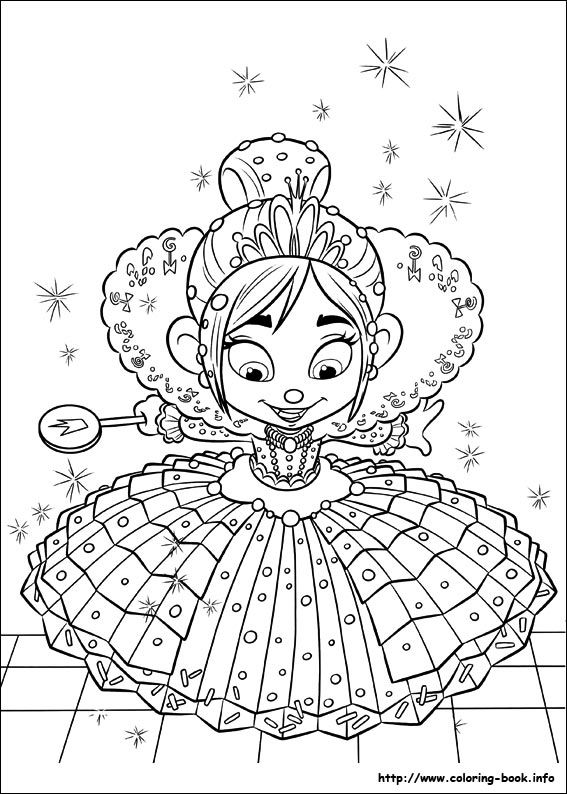 Http://coloring-book.info/coloring/Wreck-it-Ralph/wreck-it-ralph-29.jpg  Disney Coloring Pages, Princess Coloring Pages, Cartoon Coloring Pages