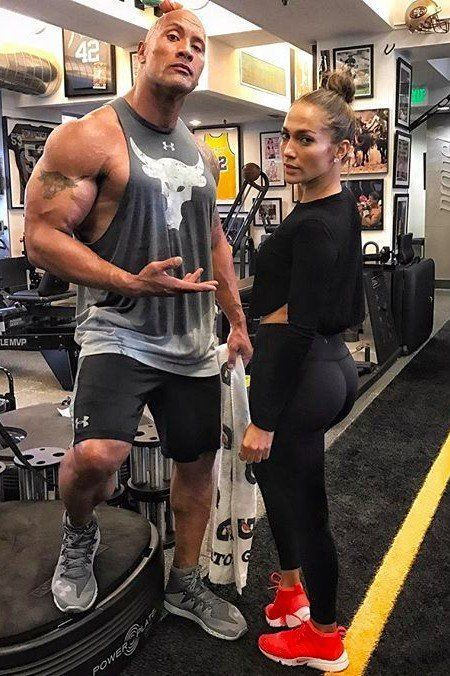 ecbf3df444e77 Dwayne Johnson and Jennifer Lopez Prove That Workouts Are Better With  FriendsDwayne Johnson and Jennifer Lopez Prove That Workouts Are Better With  Friends