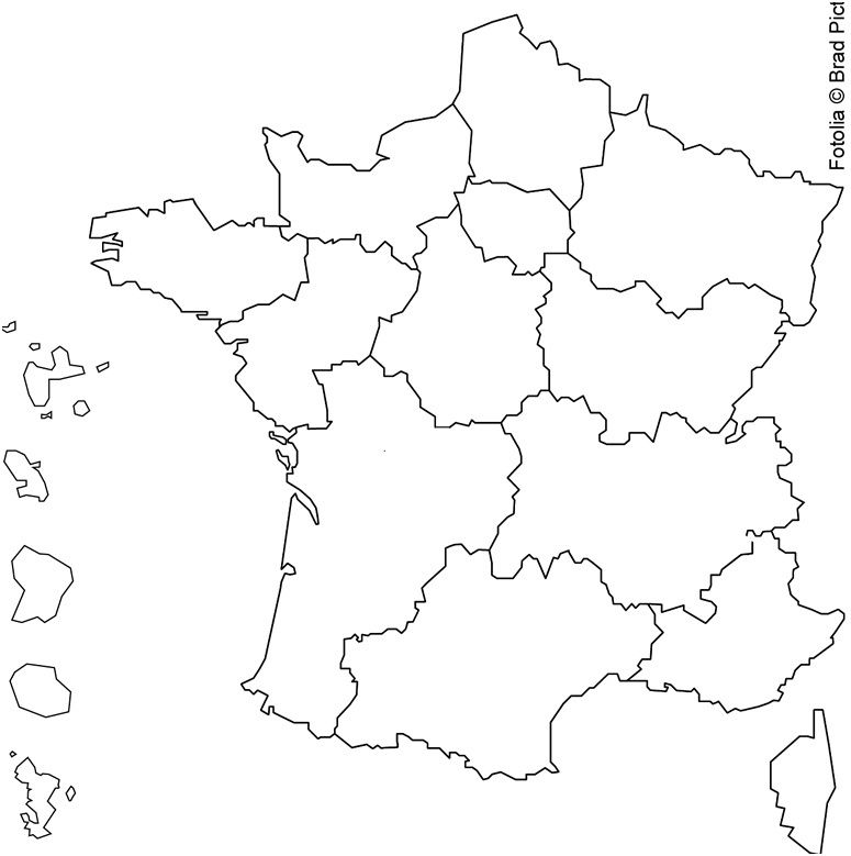carte de france à colorier 8 Adorable Coloriage Carte De France Gallery | Carte de france