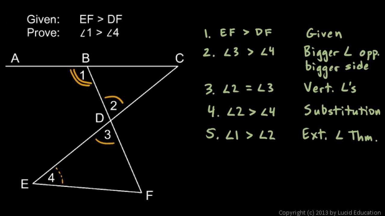 Geometry 5 5a Extra Help With Proofs Theorems Math Geometry