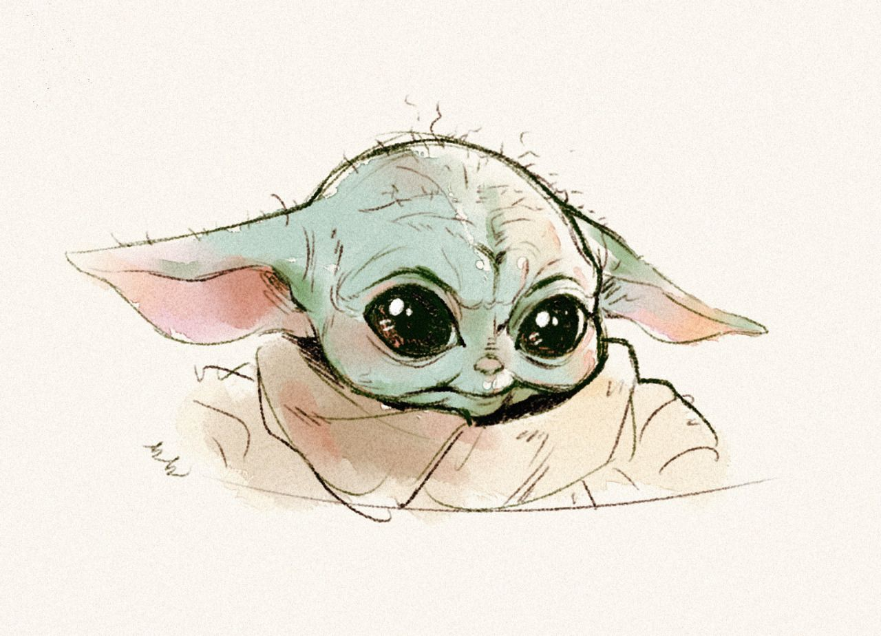 T No Instagram May The Force Be Baby Honestly My Life Has Changed Since Watching Themandalorian Beca Cute Disney Drawings Yoda Wallpaper Yoda Drawing