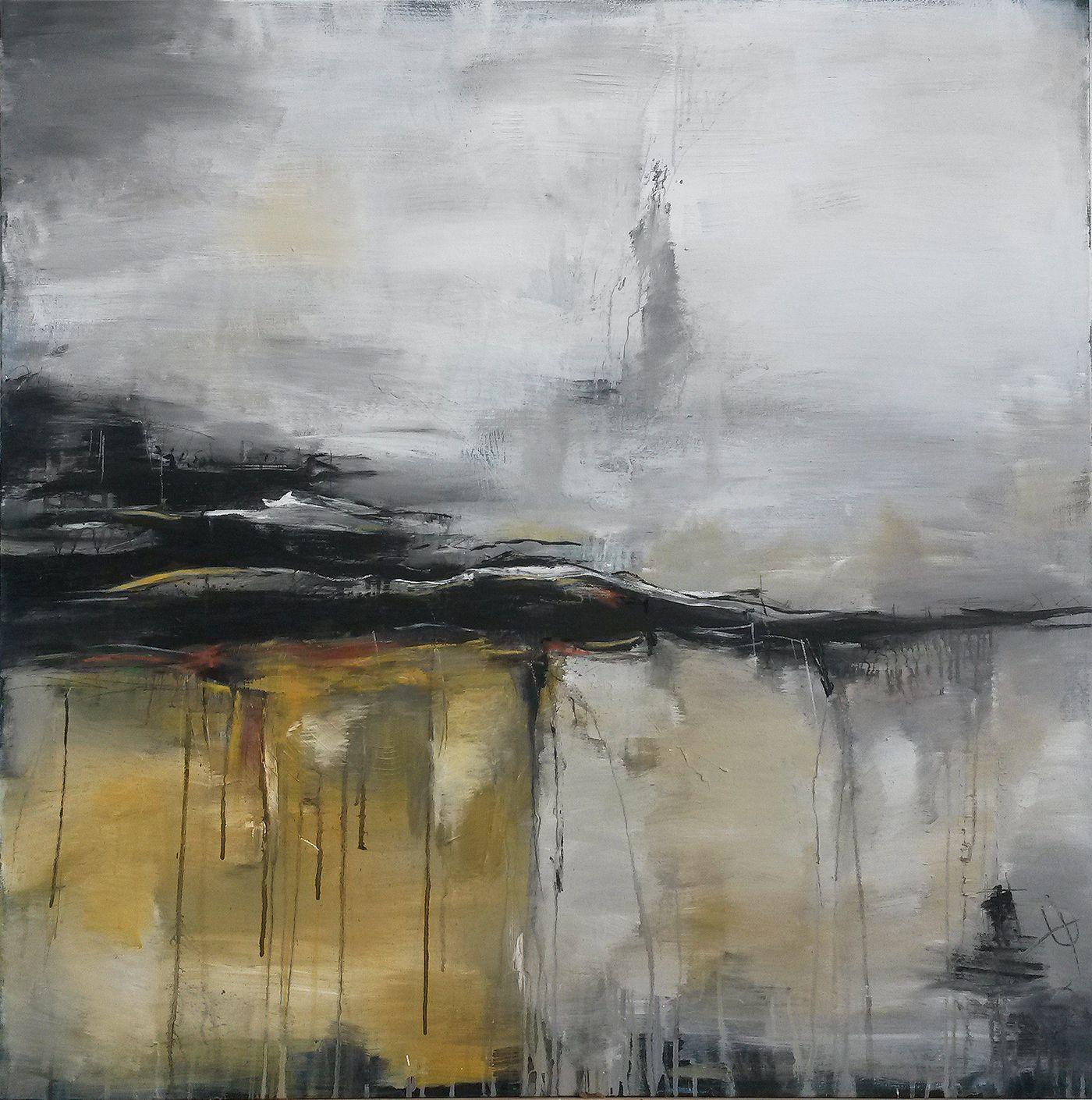 Unikat wege und spuren in naturt nen 100 x 100 cm abstrakte malerei leinwand und abstrakte - Abstrakte bilder leinwand ...