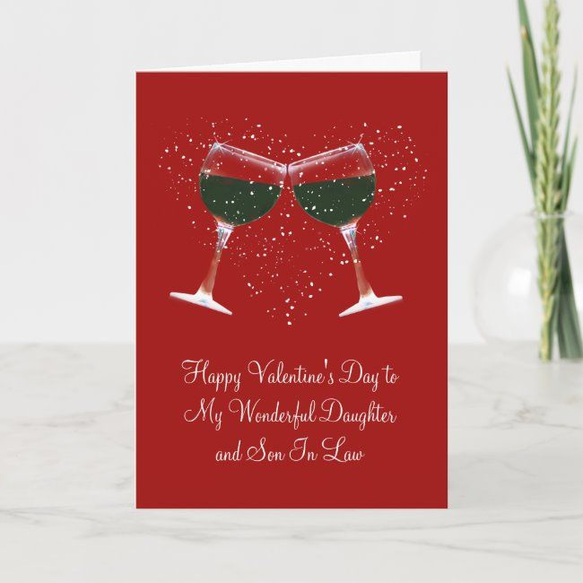 Wine Happy Valentine's Day To Daughter & Husband Holiday