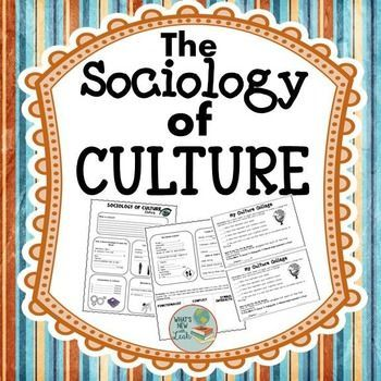 Sociology Editable Culture Powerpoint Cloze Notes And Collage
