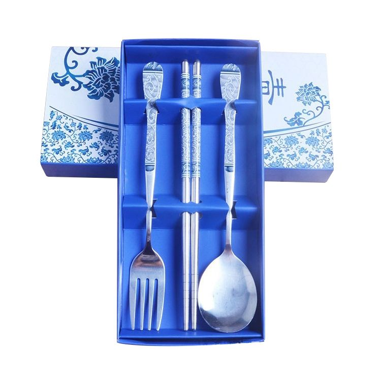 Fine stainless steel cutlery setsblue 3 sets affiliate