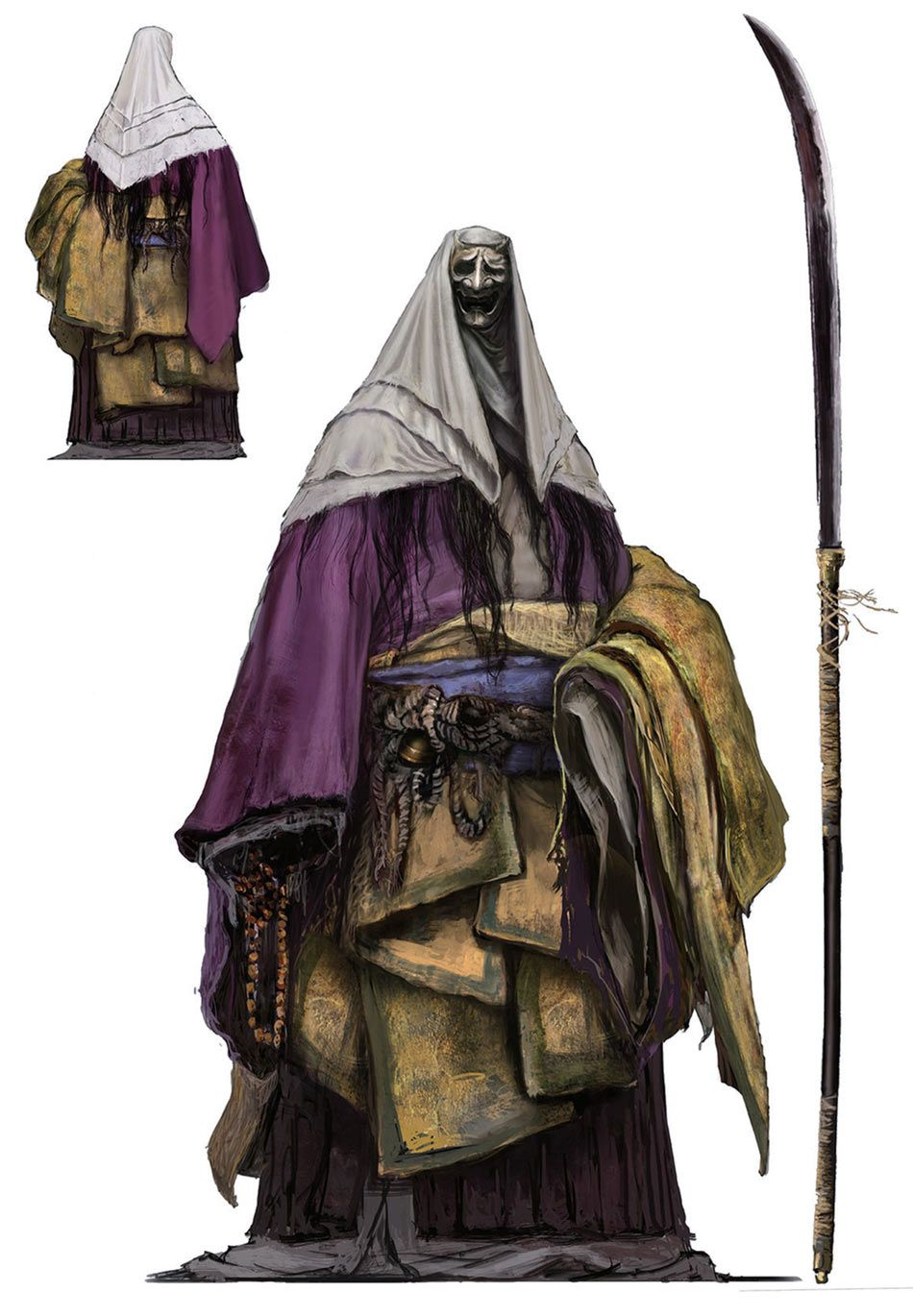 Corrupted Monk Concept Art from Sekiro Shadows Die Twice