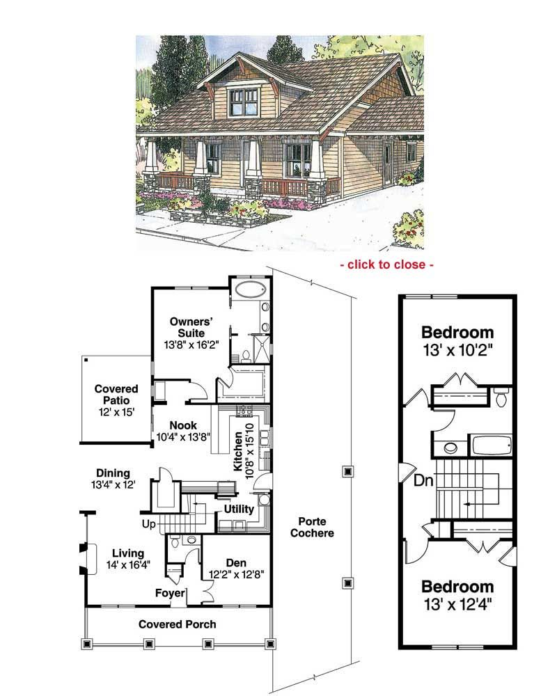 Bungalow type house floor plan
