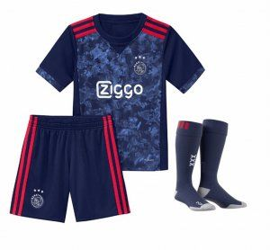 Kids Ajax 2017-18 Season Away Navy Godenzonen Whole Kit [K249]