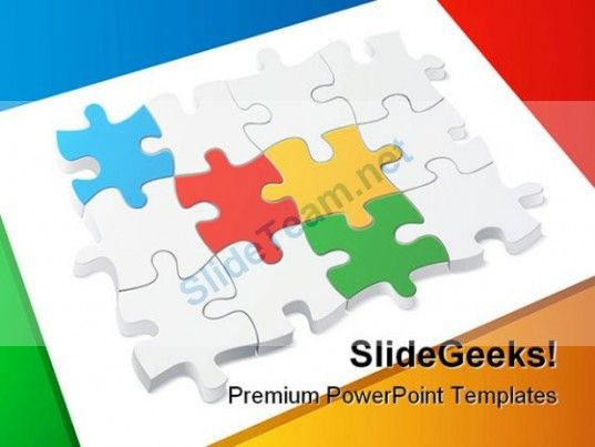 Colored puzzle teamwork powerpoint templates and powerpoint check out this amazing template to make your presentations look awesome at toneelgroepblik Choice Image
