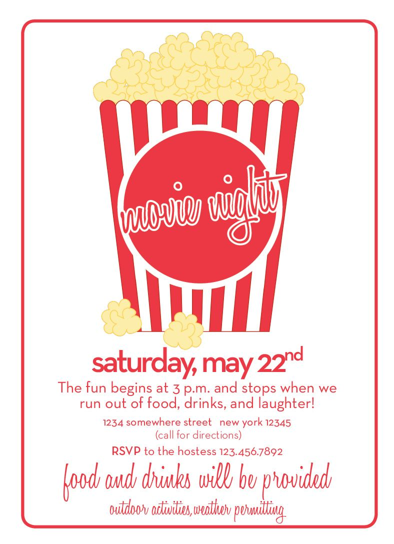 busy busy custom invitations etsy shop party time movie
