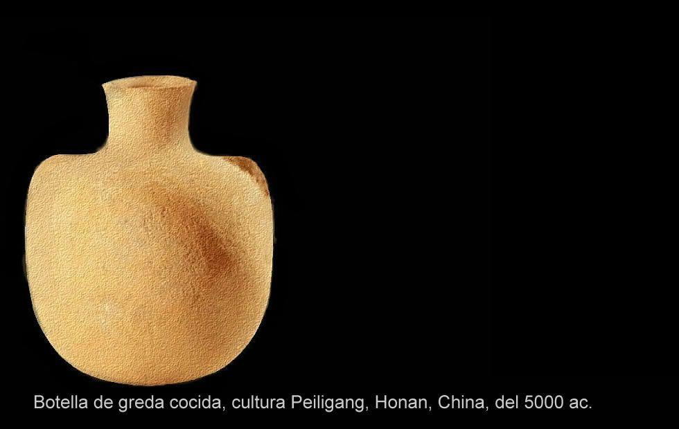 Botella fabricada en la prehistoria.