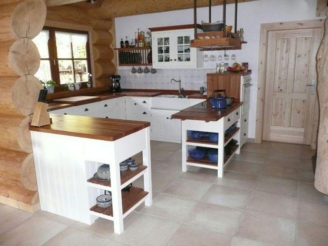 Küche kleine küche landhausstil : Fliesen Kuche Wand Landhaus ...