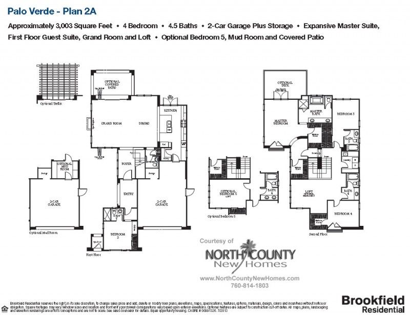 Palo Verde Floor Plan 2A, Carlsbad, CA