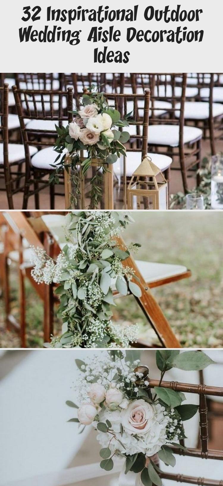 32 Inspirational Outdoor Wedding Aisle Decoration Ideas ...